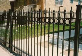wrought iron fence designs.  Designs Wrought Iron Fence Designs Fences Pictures Top Line  Brick And Wrought Iron Fence Designs I