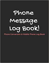 Phone Message Log Book Amazon Com Phone Message Log Book Phone Conversion