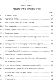 the identification of competitive strategies that ppc cement 75 5 3 7 please rate ppc cement s performance