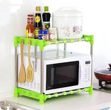 countertop storage microwave shelf french oven rack double layer seasoning finishing storage rack organizer in storage