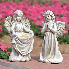 cherub angel pair garden statue 85006