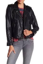 image of lucky brand major leather moto jacket