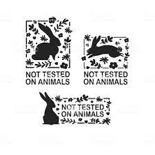 動物のロゴの残酷さを自由に設定シルエットウサギと花と自然の葉で署名し
