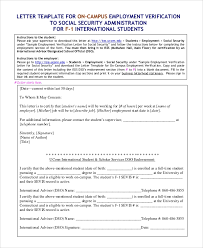 Sample Letter Confirming Employment Sample Letter Of Employment Verification 10 Examples In