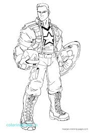 Captain America Winter Soldier Coloring Pages Page Of The Acnee