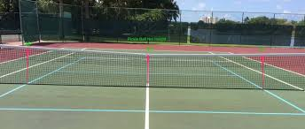 pickleball court size pickle ball net adjustment for tennis court
