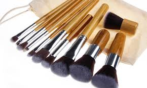 bliss grace professional bamboo makeup brush set 11 piece