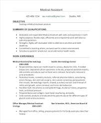 Medical Assistant Resume Objectives Medical Assistant Resume Objective Cliffordsphotography 50