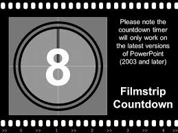 Movie Powerpoint Template Filmstrip With Countdown