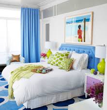 Bedroom:Calming Blue Bedroom Design For Relaxing Color With Double White  Table Lamp And White