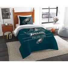 eagles 2 piece draft multi twin comforter set 1nfl862000011ret the home depot