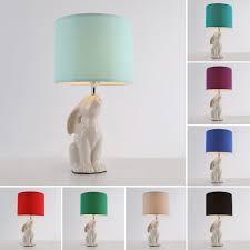 minisun ceramic bunny rabbit table lamp