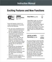 Sample Instruction Manual Template 7 Documents In Pdf