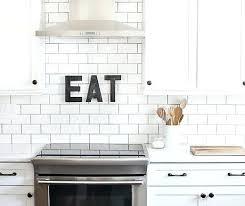 white subway tile kitchen gray grout white subway tile backsplash with light grey grout