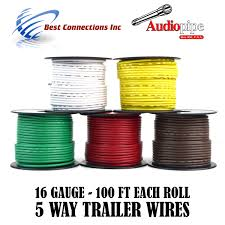 5 way flexible cord trailer wire harness light cable led 16 gauge 5 way flexible cord trailer wire harness light cable led 16 gauge 100ft 5 colors