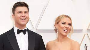 Scarlett Johansson en Colin Jost ...