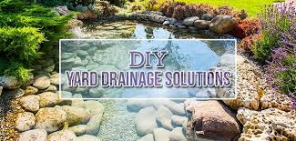 common yard drainage problems and diy