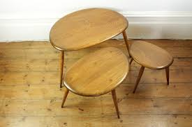 ercol nest of pebble tables