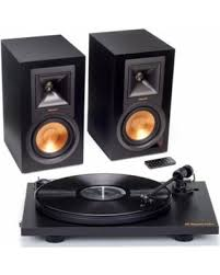 klipsch powered speakers. klipsch r-15pm powered monitor speakers and pro-ject primary turntable package (black s