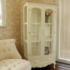 Hutch Display Cabinet Cream Glass Display Cabinet With Drawers Country Ash Range Ash