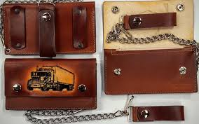trucker embossed 100 leather wallets made in the usa