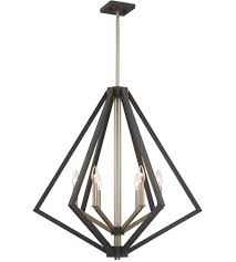 artcraft ac10686bz breezy point 6 light 30 inch bronze chandelier ceiling light