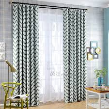 Geometric Pattern Curtains Awesome Green And Grey Geometric Pattern Modern Chevron Curtains