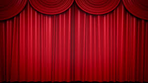 curtain opening hd stock footage clip