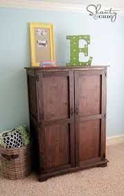 free plans to build a toy or tv armoire from ana white com