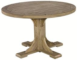 wood round patio table