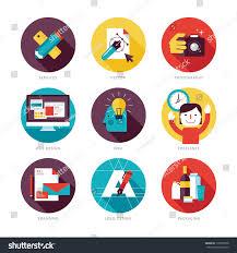 Google Flat Design Icons Set Modern Flat Design Icons On Royalty Free Stock Image
