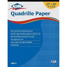 Alvin Quadrille Paper Grid Pad Size 17 X 22 Inches 1432 11