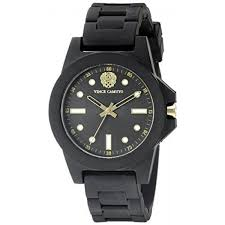 vince camuto womens vc 5280bkbk black silicone strap watch intl