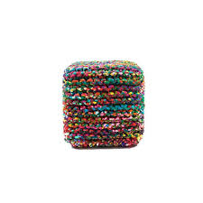 anji mountain bamboo rugs rainbow connection 18 x 18 in cube pouf