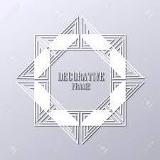 art deco ornamental vintage frame template for design vector illustration stock 87575702 frame design r28 design