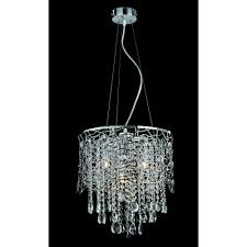suri 4 light pendant ceiling light with clear crystal detail