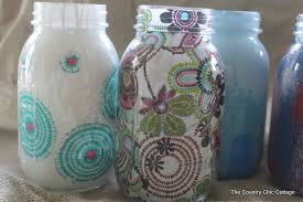Decorative Things To Put In Glass Jars Decorating Jars Five Ways With Plaidcrafts Walmartplaid The 8