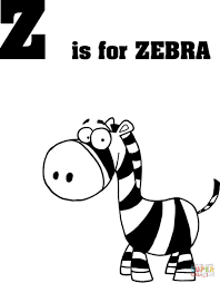 Small Picture Letter Z is for Zebra coloring page Free Printable Coloring Pages