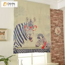 Europe Wave Slat Zebra Roller Blinds Custom Made Finished Product Window Blinds Online Store