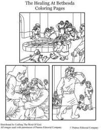 The Healing At Bethesda Coloring Page Bible Class Nt Handwork