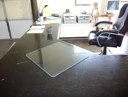 glass desk protector image of clear pad matrix