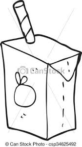 juice clipart black and white.  Clipart Black And White Cartoon Juice Box  Csp34625492 For Juice Clipart Black And White U