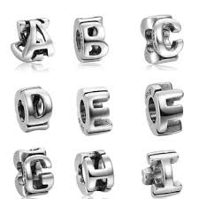 soufeel 925 sterling silver new style letter a to i alphabet european charms beads suitable for pandora style bracelet