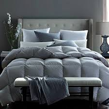 grey goose down comforter. Plain Comforter Globon Fusion White Goose Down Comforter King 55oz 600 Fill Power 300  Thread Count Proof Shell Hypoallergenic With Corner Tabs All Season Grey To U