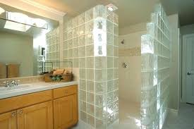 glass block shower kit glass block shower kit walk in door less walls constructed with kits glass block shower