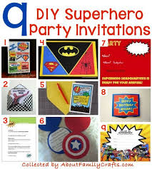 superheroes party invites 70 diy superhero party ideas about family crafts