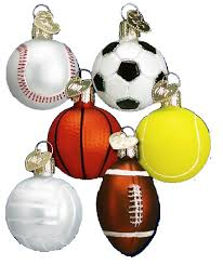Assorted Mini Sport Balls Glass Ornament