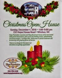 christmas open house flyer christmas open house 2016 historic hope plantation windsor nc museum