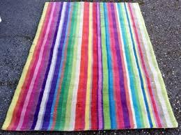 ikea strib fab 60s rainbow carpet thick wool striped rug 140 x 200cm 4 7 x 6 7 512722125