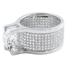 hiphopbling 360 mens iced out ring w